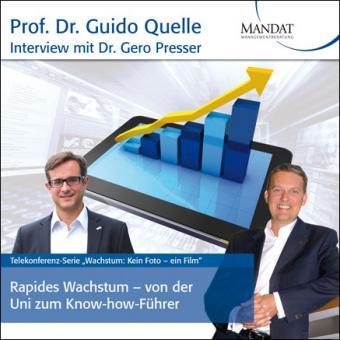 Rapides Wachstum - von der Uni zum Know-how-Führer:  Gespräch mit Dr. Gero Presser