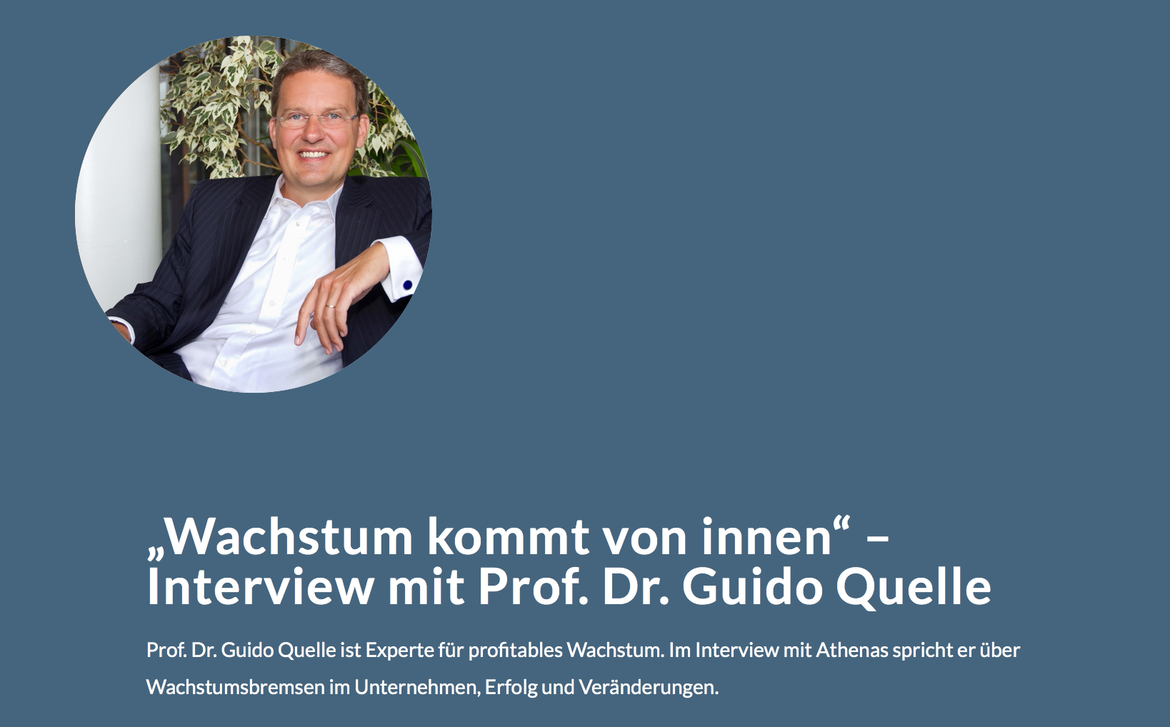Interview mit Prof. Quelle