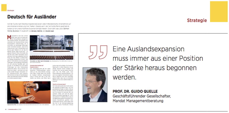 Fachartikel Unternehmeredition Deutsch für Ausländer