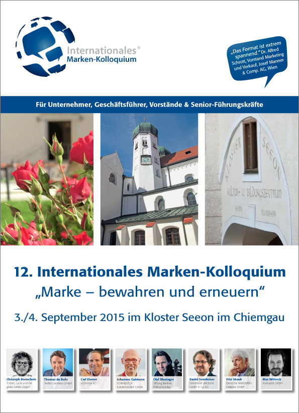 Pressefoto Programm 12 Internationales Marken-Kolloquium
